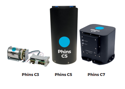 Phins Compact Series Most compact high-grade INS 0.1% to 0.3%DT position accuracy  1.6kg to 4.7kg